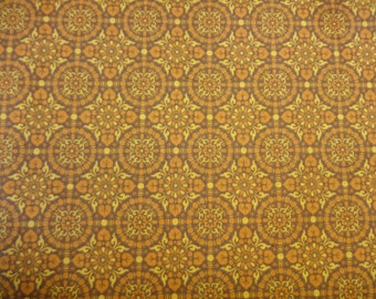 General Fabrics Brown w/Gold Design 406
