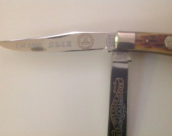 1992 NKCA Club Knife  Sargent Company USA.  Queen City. #387 of 3500