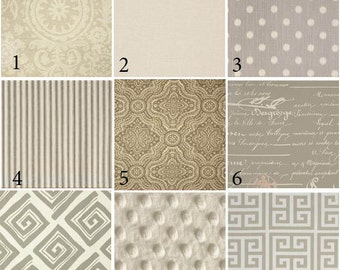 Custom 2 or 3 piece Crib Bedding - Warm Neutrals
