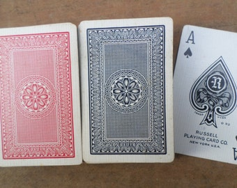 vintage double deck of Playing Cards ANTIQUE BRIDGE