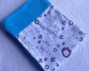 Soft Baby Bassinet or Stroller Blanket with adorable zoo animal pattern. Boy Bassinet Blanket.Baby Blanket.