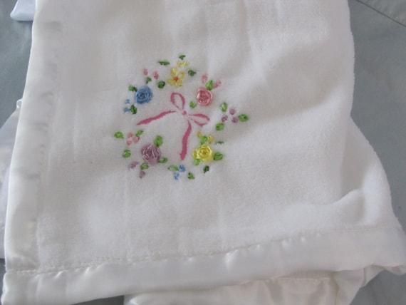 Hand Embroidered Fleece Baby Blanket Custom Blanket Fleece