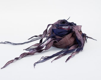 PHYLAD scarf - Taupe and purple
