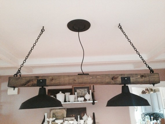Items similar to wooden rustic industrial railroad tie chandelier lighting fixture urban farmhouse on etsy