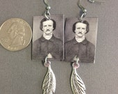 SALE Edgar Allan Poe Raven Earrings