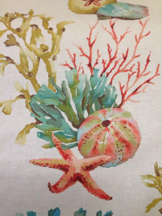 Shell Collection Fabric - Beach Decor - Coastal Fabric - Sea Shell ...