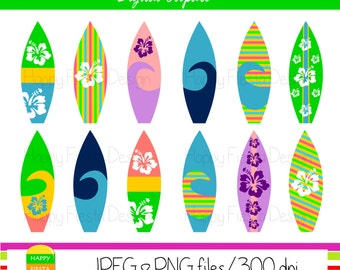 Clip Art Surf Board Clip Art surfboard clipart etsy instant download personal and commercial use digital graphics summer vacation illustrations sb1