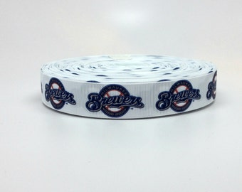 7/8 Milwaukee Brewers Grosgrain Ribbon