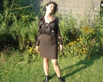 Giorgio Armani Pencil Skirt - Brown - Size 6 ***ON SALE***