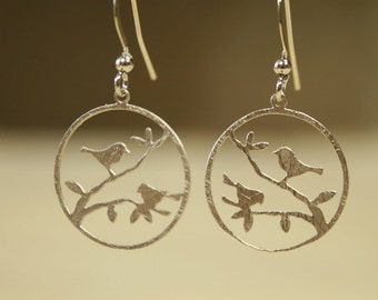 Birdy Gold / Rhodium  Plated Earrings