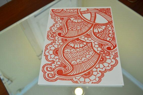 henna orange bloom by bakedsolovely on etsy. Black Bedroom Furniture Sets. Home Design Ideas