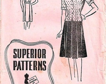"Superior Pattern 9736 Smart ""Two-Piecer"" / ca. 1943 / SZ14 Complete"