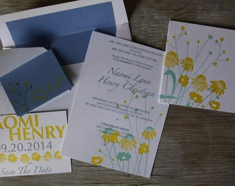 SAMPLE Spring Flowers Invitation