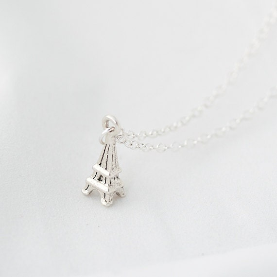 Delicate Necklace, Eiffel Tower Necklace
