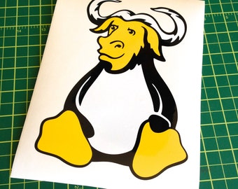 GNU/Linux vinyl sticker