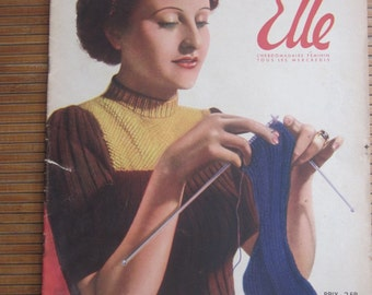 "french vintage magazine ""pour ELLE""  year 1941"
