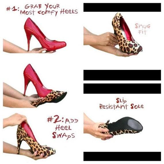 leopard print high heel spandex shoe coverschange by heelswaps