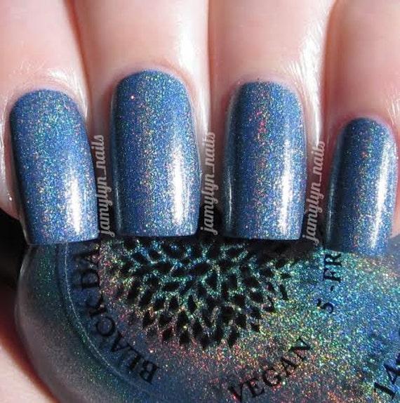 Silver Blue Holo Nail Polish By Black Dahlia By