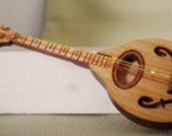 """Mandolin Kit - 1"""" scale - Laser Cut from Cherrywood - Lovely Musical Instrument"""