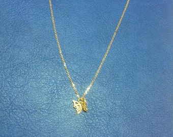 Butterfly necklace,gold plated butterfly necklace,gift for her,celebrity inspired jewelry