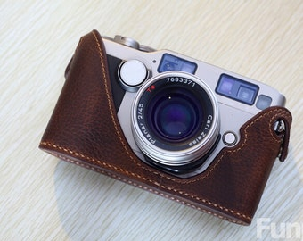 For Contax G2 Leather Cameras Case, G2 Camera Case, Handmade Simple Leather Camera Case, G2 Half Case Leather