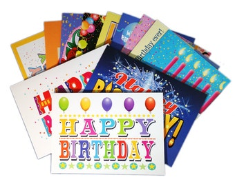 Birthday Card Assorted Pack of 24