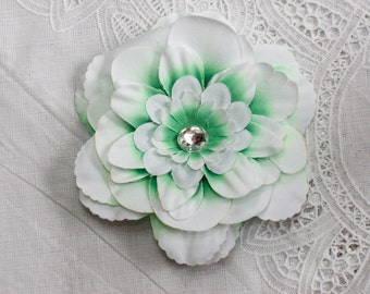 Mint Green Flower with jeweled center