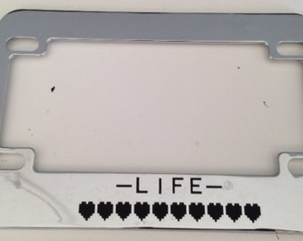 Zelda Life Meter Motorcycle Chrome License Plate Frame