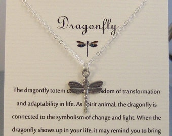 Dragonfly,Neckalce,Silver Dragonfly,Silver Necklace,Jewelry,Poem,Quote,Friend,Friendship Necklace,Friends,Necklace,Charm,Wins,Spirit Animal