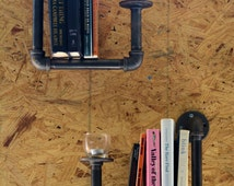 Industrial Plumbing Pipe Book Shelves (Set of 2)