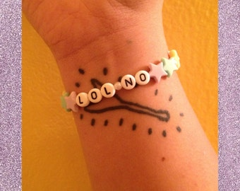 Pastel Star Bracelet With Your Choice of Wording