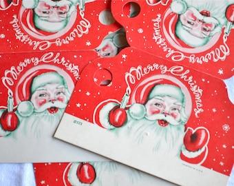 Vintage Christmas Gift Tags -  Santa Claus  - 4
