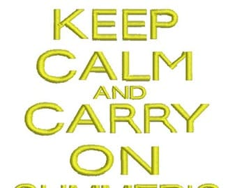Keep calm Summers Here Embroidery -In Hoop sizes 4x4, 5x7, and 9x9- Instant Download - for Embroidery Machines
