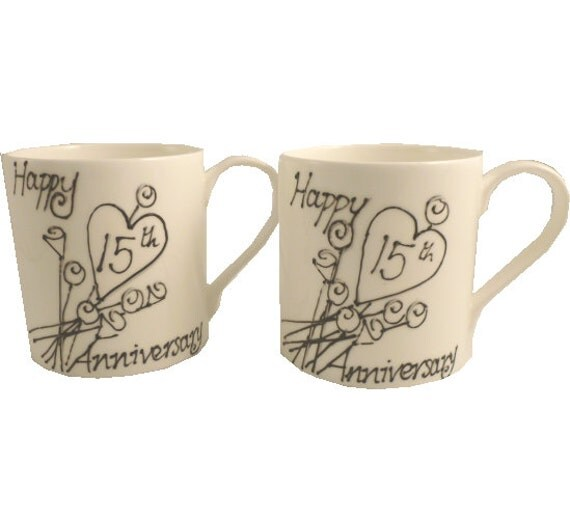 Crystal Gift Ideas 15th Wedding Anniversary: Items Similar To PERSONALISED 15th Crystal Wedding