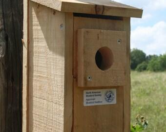 Deluxe Cedar Bluebird House w/Predator Guard Nest Box Blue Bird NABS Approved