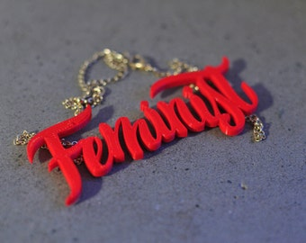 Feminist necklace (3D Printed)