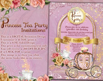 Princess Tea Party, Princess Party Invitations, Tea Party Invitations, Princess Tea Birthday, Princess Party