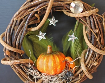 Full Moon Fall Mini Wreath