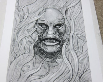 Creature from the Black Lagoon Archival Print