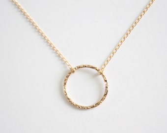 Gold  necklace, Karma, eternity, gold circle necklace, Gold karma necklace, gold filled eternity necklace, karma necklace, gold infinity