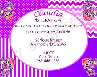 Abby Cadabby Birthday Invitation - Printable