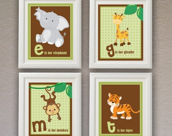 Safari Wall Art Instant Download Nursery Wall Art Children Wall Art Animail Baby Animal Jungle