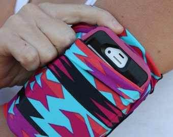 Cell Phone Arm band Running Sleeve Fitness iPhone iPod SamsungAZTEC Armband Workout Pouch