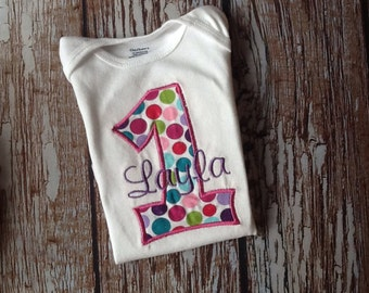 Custom embroidered birthday shirt with name