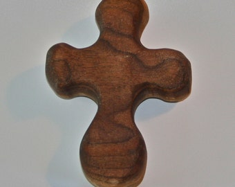 Palm cross, one of a kind, Finished with oil