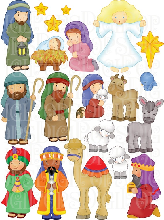 Crazy image in printable nativity