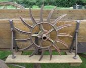 Antique cast iron International Harvester farm Cultivator farm implements