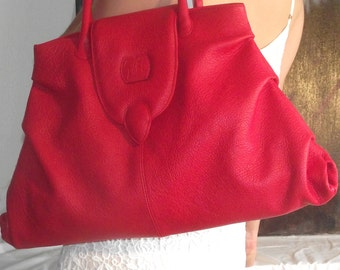 Handbag Tote everything cowhide leather