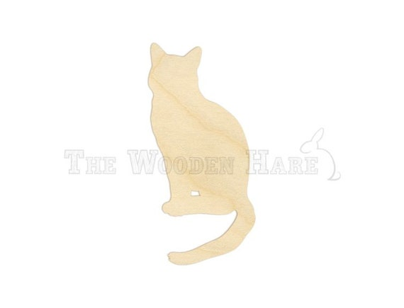 Sitting Cat Wood Cut Out 160108 Unfinished Wood By