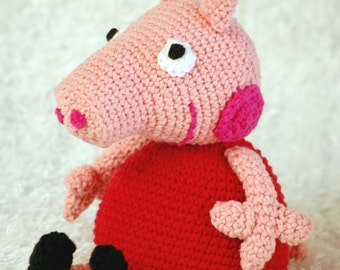 Peppa Pig crochet pattern, Peppa pig amigurami, cute piggy,